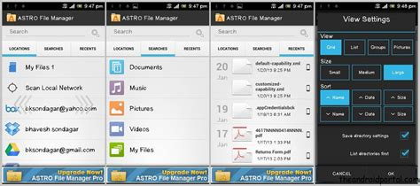 file browser android astro file manager sync manage android files with cloud storage