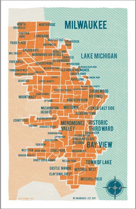 milwaukee map usa 17 best images about milwaukee on