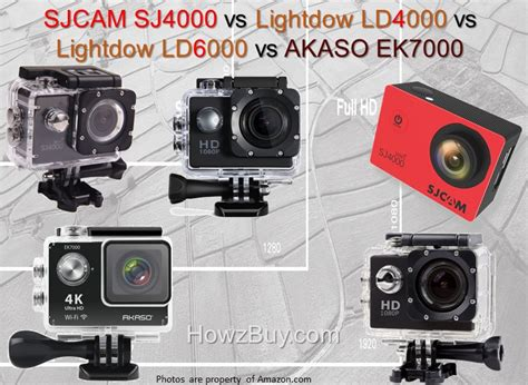Sjcam Sj4000 Review sjcam sj4000 vs lightdow ld4000 vs ld6000 vs akaso ek7000 vs ld 4k review compare