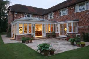 Latest Kitchen Designs Photos Red Brick Home Orangery Extension Country Exterior