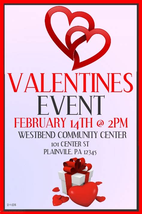 valentines event valentines event template postermywall