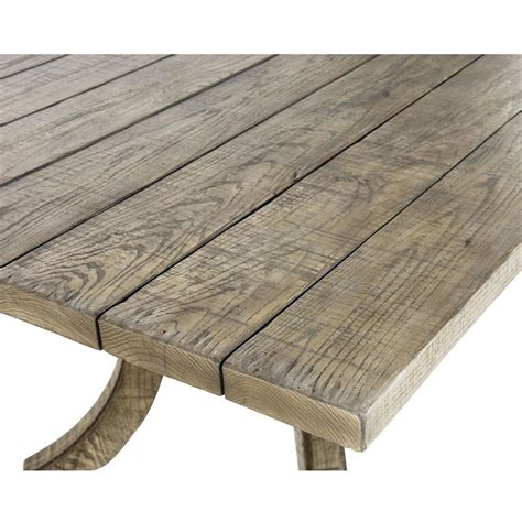 Rustic Country Dining Table Mayra Country Rustic Oak Plank Dining Table Kathy Kuo Home
