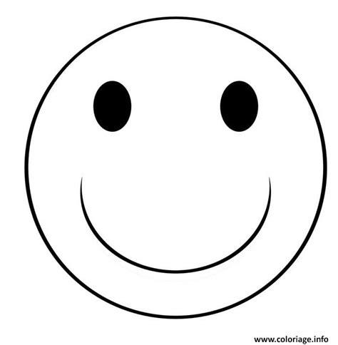 Coloriage Smiley Sourire Dessin