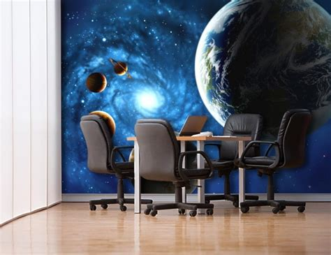 outer space wall mural 3d outer space universe non woven wall mural realistic planet photo wallpaper moon wall print