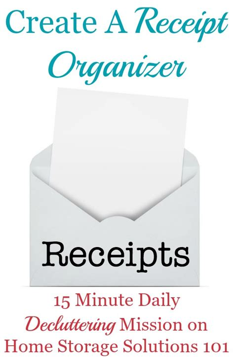 home storage solutions 101 how to use a receipt organizer to keep paper clutter at bay