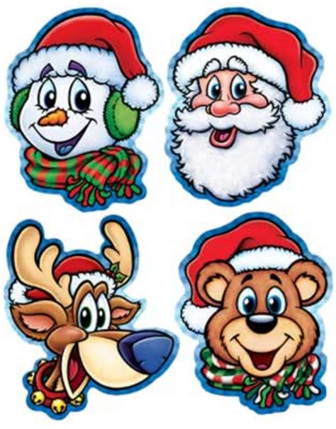 printable christmas cutouts and decorations cut and paste coloring part 2