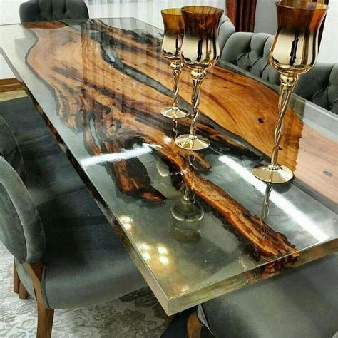 epoxy table top edges guide epoxy resin pouring glue a transparent table mirror
