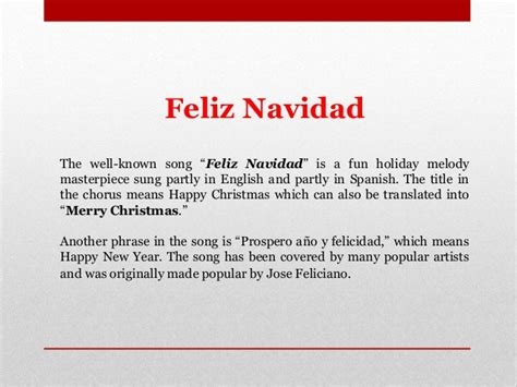 learn spanish christmas   words