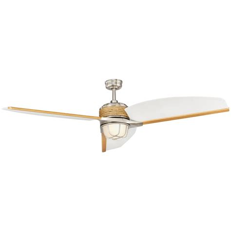 escape 68 in brushed nickel indoor outdoor ceiling fan home decorators collection escape ii 68 in led indoor