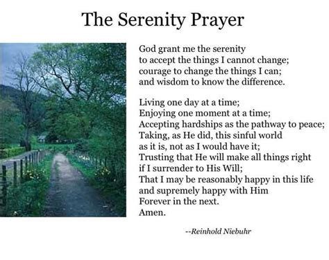 printable version of the serenity prayer the full serenity prayer