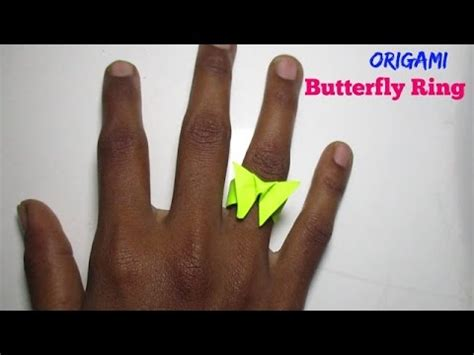 Origami Butterfly Ring - butterfly ring how to make an origami butterfly ring 3