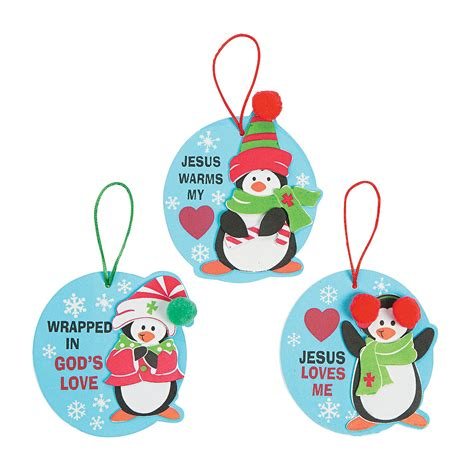 penguin religious christmas ornament craft kit ornament