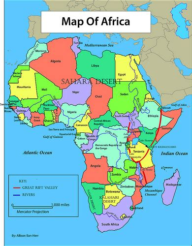 africa map labeled africa map