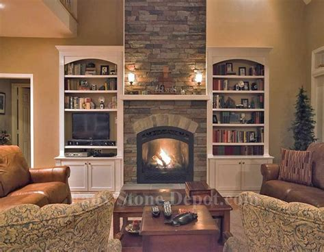 faux stone fireplaces contemporary family room dc