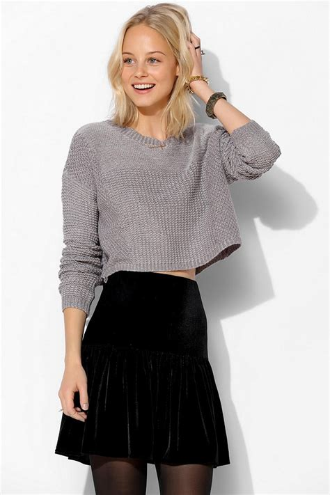 cropped sweater lyst outfitters silence noise stitch cropped