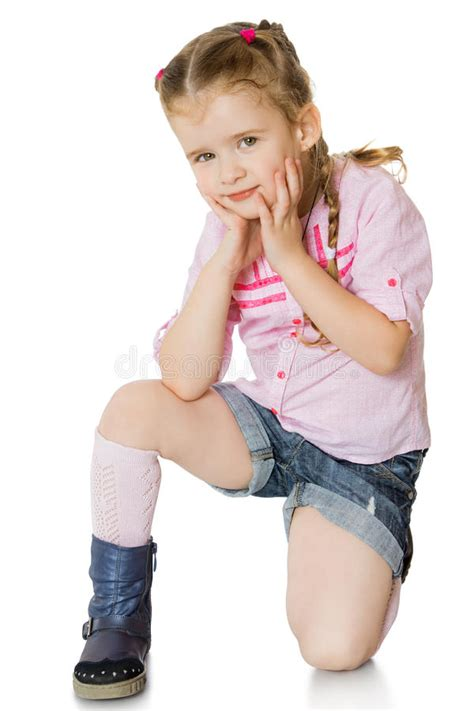 little girl up shorts little girl in shorts stock image image of child person