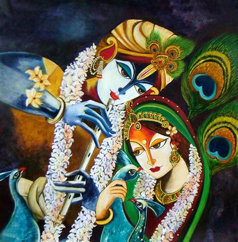 neeraj parswal artwork immortal love  radha krishna