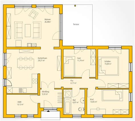 bungalow bauen grundriss bungalow w 126 ytong bausatzhaus