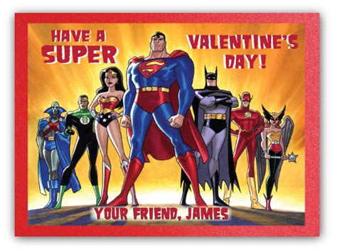 superheroes valentines day justice league s day card di val22