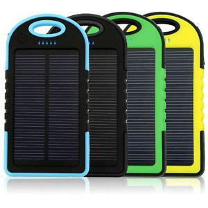 Lu Cing Solar Powerbank 12000mah portable waterproof solar charger dual usb external battery power bank ebay