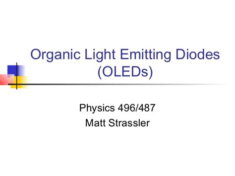 what is an organic light emitting diode organic light emitting diodes