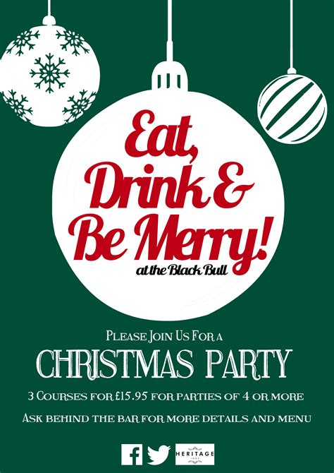 personal work christmas and new year pub posters
