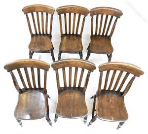 Set Of 6 Farmhouse Dining Chairs Antiques Atlas Farmhouse Dining Chairs