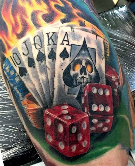 flaming dice tattoo designs 75 dice tattoos for the gambler s paradise of