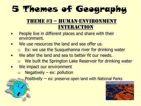 are the five themes of geography useful ppt 5 themes of geography powerpoint presentation id