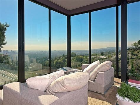 floor to ceiling windows contemporary home in california showcases indulgence with