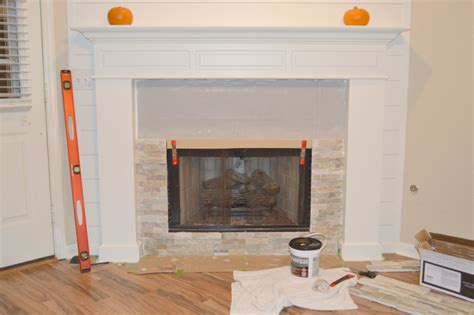How To Put On A Fireplace by Fireplace Makeover Stonework Brick House