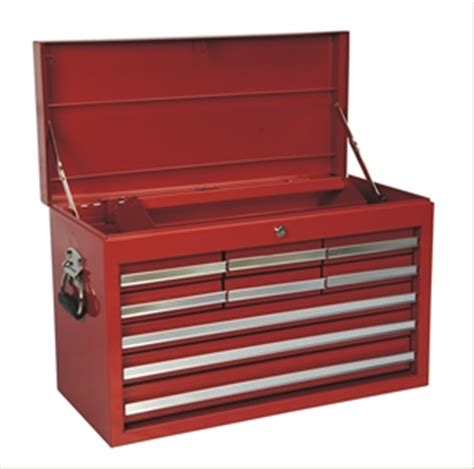 Table Top Tool Box Steel Bench Top Tool Chest 9 Drawer Red Ptc106red