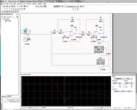 high pass filter using multisim op low pass sallen key filter has response in bode plot electrical engineering