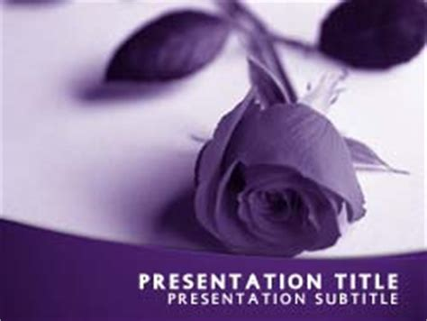 Royalty Free Funeral Powerpoint Template In Purple