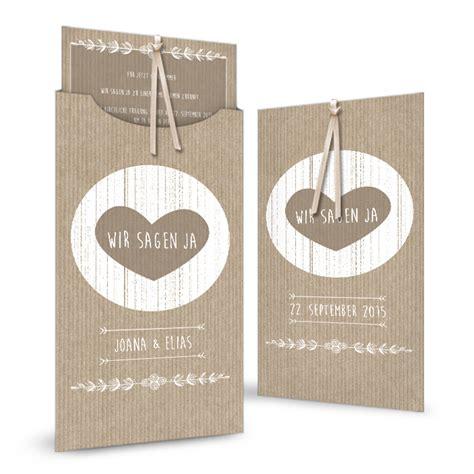 Einladung Hochzeit Einsteckkarte by Vintage Hochzeitseinladung Einsteckkarte Im Packpapier Stil