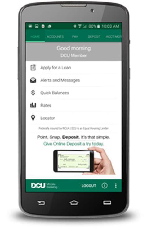 mobile banking account get the android app for your smartphone dcu