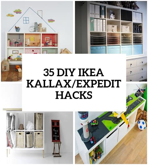 diy ikea hacks 35 diy ikea kallax shelves hacks you could try shelterness