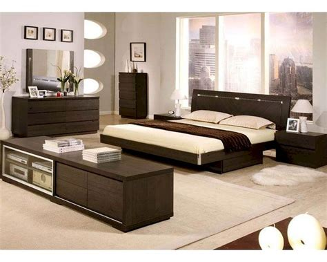 bedroom furniture made in italy modern wenge finish storage bedroom set made in italy 44b4511