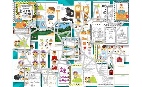 kindergarten themes nursery rhymes nursery rhymes pack for preschool pre k 127 pgs
