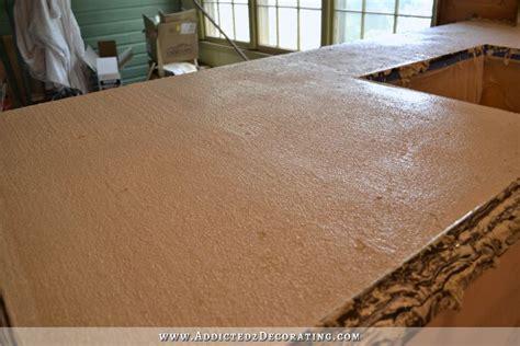 Concrete Countertops Diy by Diy Pour In Place Concrete Countertops Part 2