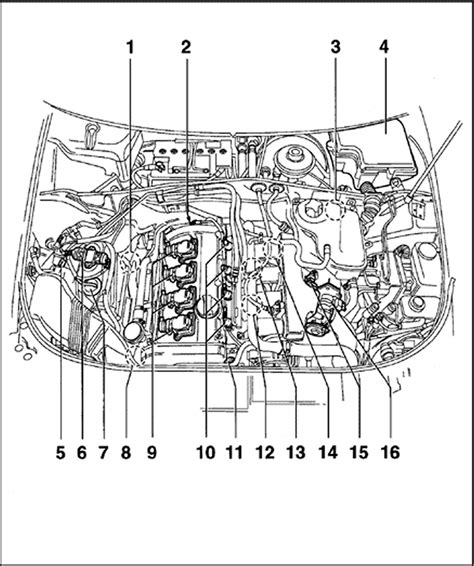 2000 vw passat engine diagram repair guides component locations audi a4 1 8l