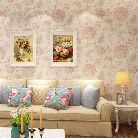flower wallpaper designs for bedrooms chinese vintage floral wallpaper for classic family room