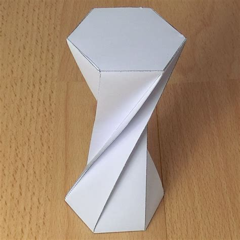 Twisted Origami - paper twisted hexagonal prisms