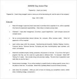 30 60 90 Day Plan Template Exle by 30 60 90 Day Plan 6 Free Word Excel Pdf Format