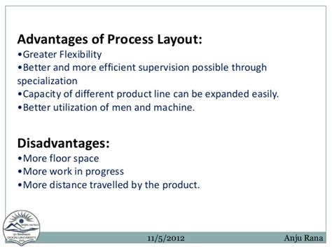 product layout merits and demerits facility layout ppt