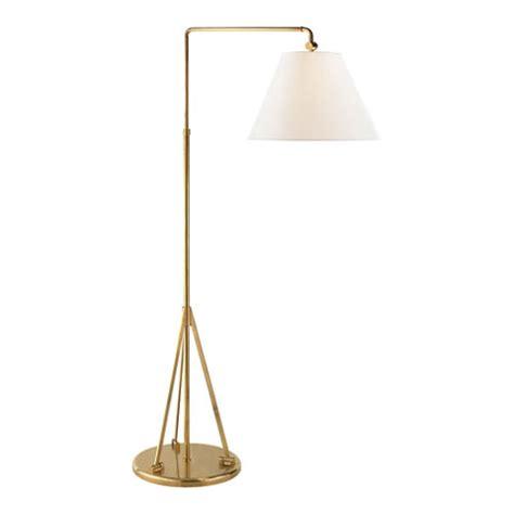 swing arm brass floor l brompton swing arm floor l in natural brass floor