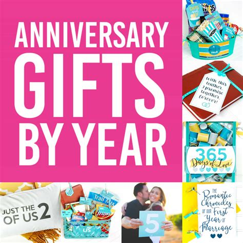 Wedding Anniversary Year by Anniversary Gifts By Year