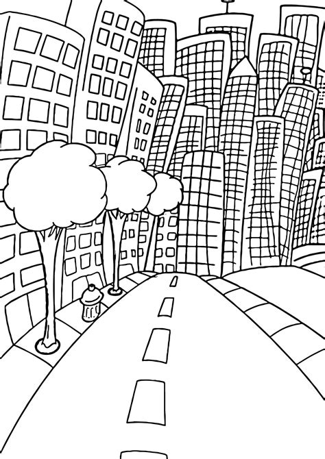 Future City Of Coloring Pages Coloring Pages City Coloring Pages