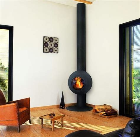 Corner Wood Burning Stove: Functional and Interior