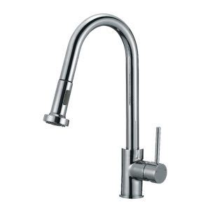 Pull Handle Belleza single handle pull out sink faucet brass 16 w plate